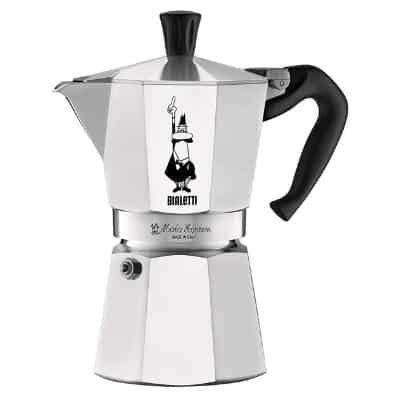 Bialetti The Original Moka Express - 6 Cup Stovetop Coffee Maker with Safety Valve