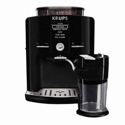 KRUPS EA8298 Cappuccino Bar, Fully Automatic 57-Ounce, Preset drinks, LCD Display, Integrated Milk Froth System