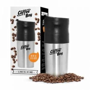 Coffee Boy All-in-One Electric Ceramic Grinder with Portable Coffee Maker