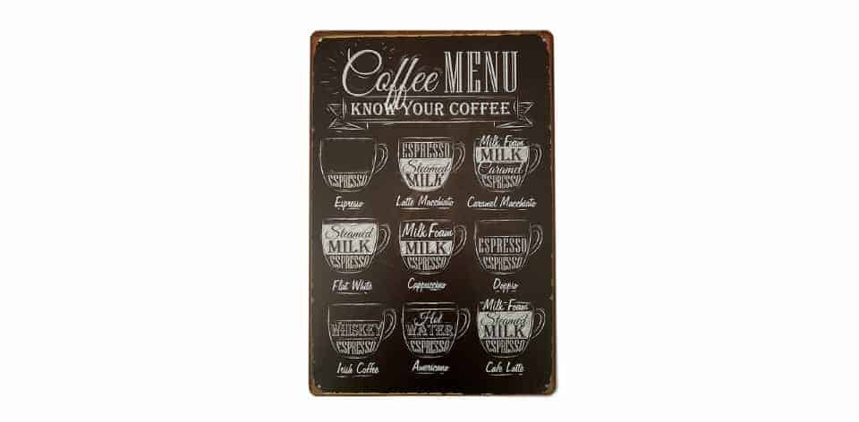 ERLOOD Coffee Menu Know Your Coffee
