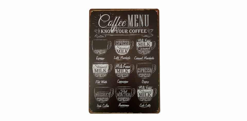 ERLOOD Coffee Menu Know Your Coffee