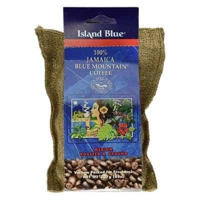island blue jamaica blue mountain ground coffee