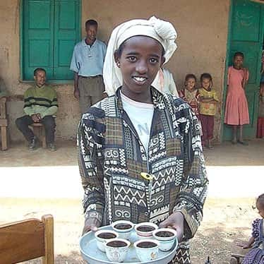 ethiopian served coffee