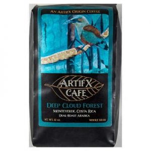 Artifx Cafe Deep Cloud Forest, Monteverde Costa Rica Coffee - 12 oz, Whole Bean - Nature Friendly