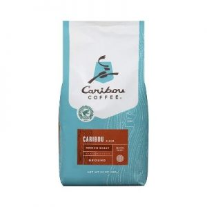 Caribou Coffee, Caribou Blend, Ground, 20 oz. Bag, Smooth & Balanced Medium Roast Coffee Blend from The Americas & Indonesia, with A Rich, Syrupy Body & Clean Finish; Sustainable