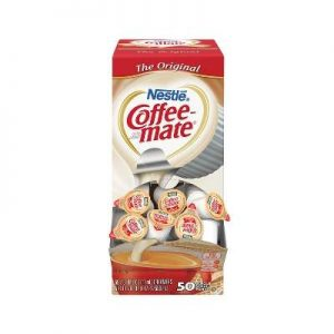 Nestle Coffee-mate Coffee Creamer, Original, 0.375oz Liquid Creamer Singles, 50 Count