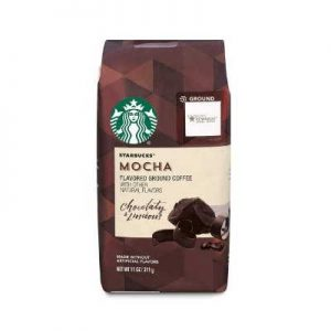 Starbucks Mocha Flavored Ground Coffee, 11 Ounce (Pack of 6)