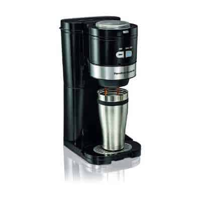 Hamilton Beach Coffee Maker, Grind and Brew Single Serve, Black