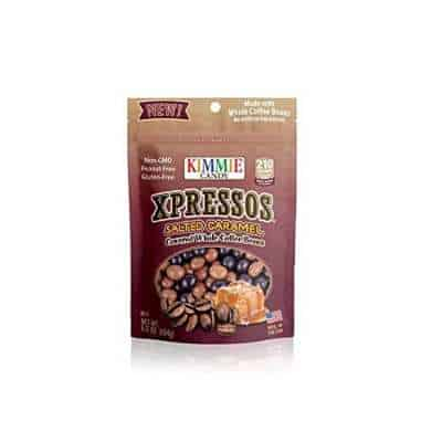 Kimmie Candy Xpresso Sea Salted Caramel Covered All Natural Espresso Coffee Beans, 6.5 ounce