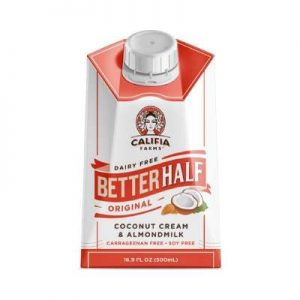 Califia Farms Original Better Half Coffee Creamer, 16.9 Oz (Pack of 6) Coconut Cream and Almondmilk Half & Half Dairy Free Plant Based Nut Milk Vegan Non-GMO
