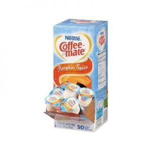 Nestle 75520 Liquid Coffee Creamer, Pumpkin Spice, 38 Oz (11ml)Mini Cups, 50box