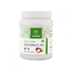 Prasada Organic Virgin Coconut Oil (52oz) Cold-Pressed, Non-GMO, Single Origin Perfect for Baking, Frying, Grilling and Cosmetic Application
